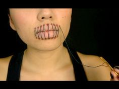 ▶ Stitched Mouth Tutorial (Halloween 2013) - YouTube