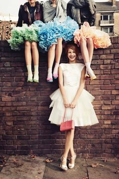 Hen Do Game Ideas (BridesMagazine.co.uk) Like the photo - maybe same dresses different underskirts for bridesmaids