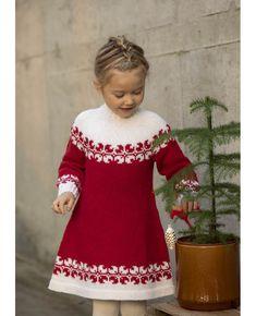 Crochet Baby Poncho, Girls Knitted Dress, Knit Baby Dress, Knit Crochet, Diy Crafts Knitting, Knitting For Kids, Crochet For Kids, Sweater Knitting Patterns, Girls Dresses