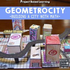 Project Based Learning: GEOMETROCITY! Build a City Made of Math with Geometry. Imagine, Design, and Build a City with this 2D and 3D Adventure! -Project Based Learning -Real World Application -Geometry, Maps, & More -Extension Activities -Differentiated Levels