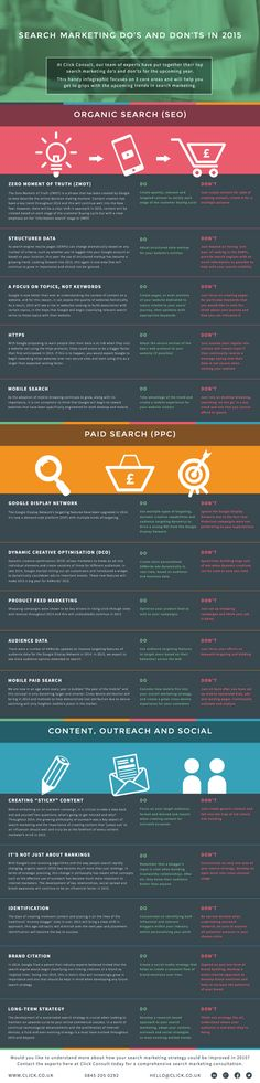 Search Marketing Do's and Don'ts in 2015 #infographic #SearchMarketing #SEO