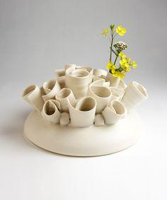 decorative porcelain vase #handmade #designer #decor