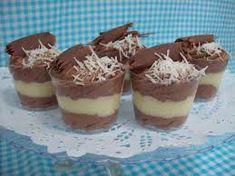 PRESTÍGIO NOS POTINHOS - Voce que está fazendo bolo no pote para vender, essa opção é muito bem aceita com esse recheio de duas cores, de chocolate e creme