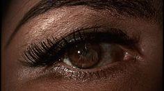 "The eye of Nadja Regin from ""Goldfinger"" (dir. Guy Hamilton, 1964)."