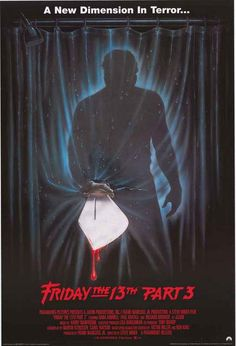 A great Friday the 13th Part 3 movie poster! Jason Voorhies creates a new…