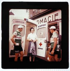 majortaylortalk: Original Kodak images of the 1953 Tour de France, taken by a member of the Aspro caravan team.