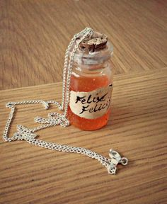 Miniature Felix Felicis liquid luck Harry Potter inspired potion bottle. Check out www.missdollhouse.com