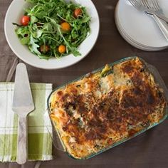 "Tuna Garden Casserole - ""This easy to prepare version of the classic tuna casserole contains leafy greens, bell pepper, and penne noodles. You can easily substitute the vegetables with what you have in the refrigerator. Tuna Recipes, Seafood Recipes, Great Recipes, Cooking Recipes, Favorite Recipes, Healthy Recipes, Recipies, Healthy Junk, Grilled Recipes"