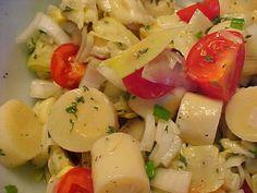 la table en fête : Salade aux artichauts, coeurs de palmier et tomates Healthy Low Carb Recipes, Pasta Salad, Entrees, Potato Salad, Salads, Chicken, Cooking, Ethnic Recipes, Table