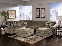 "Liberty Lagana Furniture in Meriden, CT: The ""Cosmo Marble"" Sectional by Ashley Furniture"