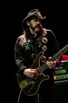 Ian Fraser 'Lemmy' Kilmister. 25.12.1945 - 28.12.2015. Frontman, bassist, singer from his band Motorhead.