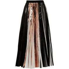 Proenza Schouler Foil-paneled pleated cloqué maxi skirt (£1,045) ❤ liked on Polyvore featuring skirts, bottoms, proenza schouler, saias, black, maxi, floor length maxi skirt, maxi length skirts, panel maxi skirt and pleated skirt