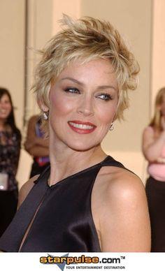 sharon stone hair. Short Hairstyles Sharon Stone.