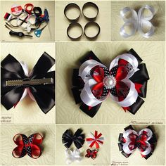 DIY Beautiful Satin Ribbon Hair Clip tutorial and instruction. Follow us: www.facebook.com/fabartdiy