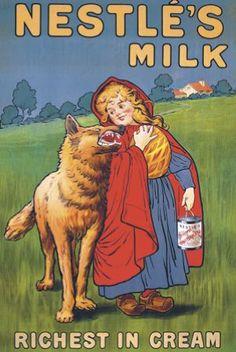 vintage poster... Nestle's Milk... Little Red Riding Hood