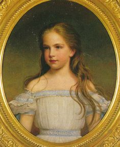 Archduchess Gisela of Austria as small child. C. 1860. Dang I love that dress.