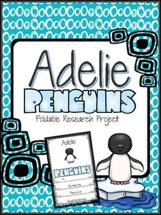 Walk your students through the process of researching Adelie Penguins with quality links provided. Students research, take notes and write report using a specially designed foldable.