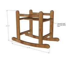 Ana White   Build a Rocking Moses Basket Stand   Free and Easy DIY Project and Furniture Plans