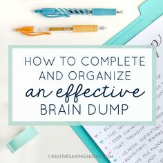 There are two secrets to eliminate overwhelm—a brain dump, and organizing all that information. Here's how to do both! #‎PilotYourLife‬ ‪#‎ad‬