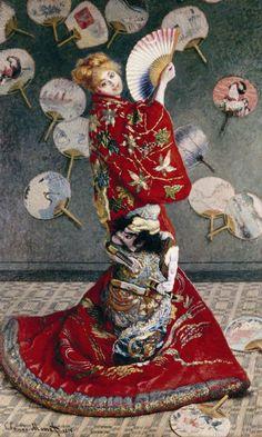 Claude Monet Camille Monet in Japanese Costume painting, oil on canvas & frame; Claude Monet Camille Monet in Japanese Costume is shipped worldwide, 60 days money back guarantee. Claude Monet, Monet Paintings, Impressionist Paintings, Impressionism Art, Watercolor Paintings, Costume Japonais, Kunsthistorisches Museum, Oil Canvas, Canvas Art