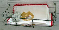 Antique Wire Basket Shelf Cabinet Holder by Holliezhobbiez on Etsy, $10.00