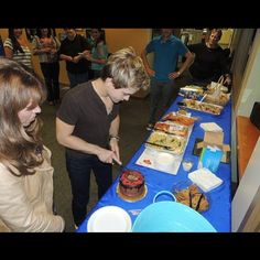 hunter and cake? yes please!! um can I have a side of shirtless hunter