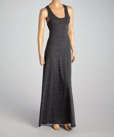 Look at this #zulilyfind! Charcoal Racerback Maxi Dress - Women by TROO #zulilyfinds