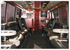 """The interior of this coach is an """"open"""" concept with lots of space and beautiful captains chairs."""