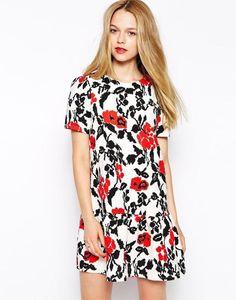 Girls on Film Floral Dress with Peplum Hem http://picvpic.com/women-dresses-day-dresses/girls-on-film-floral-dress-with-peplum-hem?ref=QA8LwA