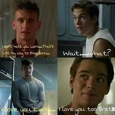 This is a story about Briam. Liam is getting abused by his Dad, and n… Werewolf Teen Wolf Ships, Teen Wolf Boys, Briam, Teen Wolf Memes, Dylan Sprayberry, Wolf Stuff, Little Puppies, Cute Guys, Vampire Diaries