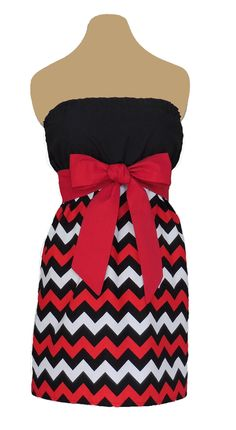 www.gameondresses... Game Day Chevron! Rock your school colors on game day, for rush or around campus with the Red and Black Chevron dress, just $39.99 Go Georgia Bulldogs! Go Texas Tech Red Raiders! Go Arkansas State Red Wolves! Go San Diego State Aztecs! Go Northern Illinois Huskies! Go Cincinnati Bearcats! Go Valdosta State Blazers!