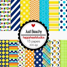 Digital Scrapbook  JustBeachy-INSTANT DOWNLOAD by azredhead