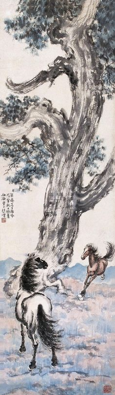 Master Xu Beihong - Asian Brush Painting - Horse