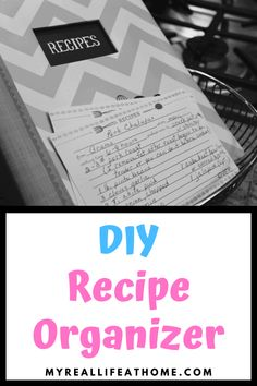 Organizing Recipes - Check out my DIY solution to organizing my recipes #organizing #DIY #howto #organizinghacks #recipes #recipeorganizer #recipebinder #recipecards