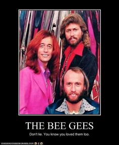 """don't lie.you know you loved the bee gees too!"""