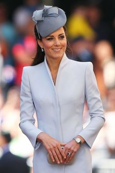 Catherine, Duchess of Cambridge arrives at St Andrew's Cathedral for Easter Sunday Service on April 20, 2014 in Sydney, Australia.