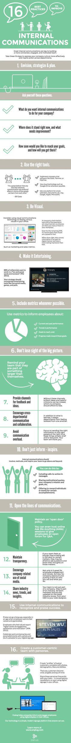[Infographic] 16 stappen om de interne communicatie te verbeteren - internal communication