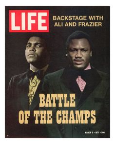 Muhammad Ali and Joe Frazier