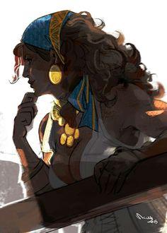 Kendra, bruja exiliada. Reside en el interior de un volcán debido al sello de Bae, el dragón blanco. Isabela http://tainted-knight.tumblr.com/