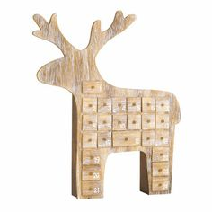 Wooden advent calendar with room for gifts. What a great idea!