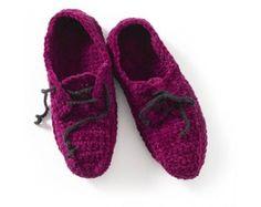 Crochet Oxford Slippers Pattern (Crochet)