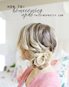 Loose updos: 8 tutorials and over 90 inspiring ideas - Pratical Information Loose French Braids, Loose Updo, Messy Curls, Beach Waves, Every Woman, Updos, Homecoming, Hair Styles, Pictures