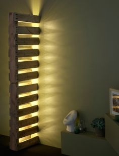 Pallet Lamp for wall divisions