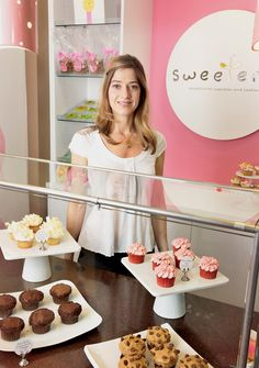 My beautiful friend, Sue, in her shop, The Sweeterie in Mariemont, Ohio.   Best cupcakes!