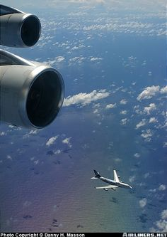 "Very rare shot of another Air New Zealand in ""Lord of the Rings"" livery flying in formation as it were, below us. This aircraft was going to..."