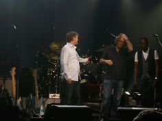 Eric Clapton and Steve Winwood in concert, at the O2 World Arena 3.6.2010