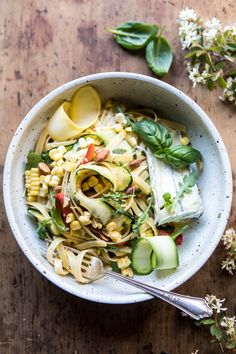 Farmers Market Goat Cheese Pasta Primavera - simple, fresh, light, quick cooking...just about the perfect any day of the week dinner. @halfbakedharvest.com