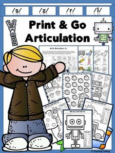 Print & Go Articulation Therapy Activities for S… Articulation Therapy, Articulation Activities, Speech Therapy Activities, Speech Language Pathology, Speech And Language, Oral Communication Skills, Play Therapy Techniques, Apraxia, Game Boards