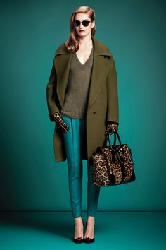 Gucci Pre Fall 2013 Collection    Not a fan of animal print on me though. But everything else is a yes.