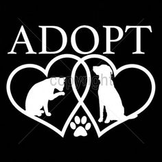 Adopt a Pet Two Hearts with Dog and Cat T by firelandsteeshirts